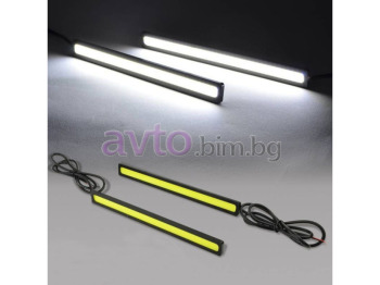 Дневни светлини - диодни - COB LED DayLight - 2 броя комплект 14см/0.6см/1см