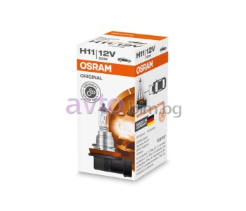 Крушка H11 12V 55W PGJ19-2 - Osram за FORD TRANSIT CUSTOM товарен от 2012