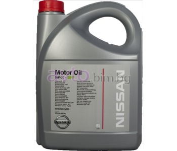 Моторно масло NISSAN 5W30 DPF 5Л