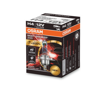 Крушка H4 12V 60/55W P43t NIGHT BREAKER LASER 1бр. - Osram