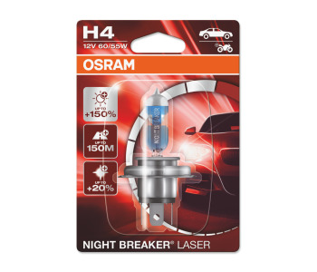 Крушка H4 12V 60/55W NIGHT BREAKER LASER OSRAM
