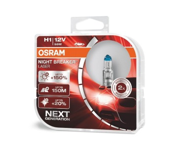 Крушки H1 12V 55W NIGHT BREAKER LASER 2бр. Osram